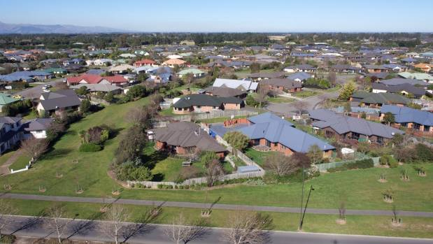 Aerial view: Rolleston's young demographic makes it like a baby boom suburb from the 1960s.