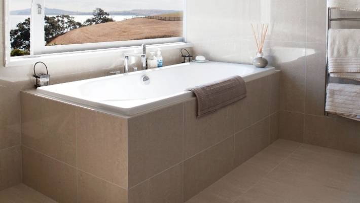 Built In Baths Have Space Around The Edge To Hold All The Bathing  Necessities.