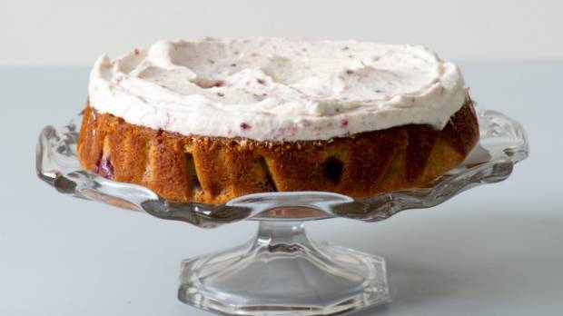 Any type of berries will work well in this delicious cake.