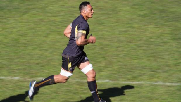 Galu Taufale in training for the Wellington Lions ahead of his provincial rugby debut at the age of 29.