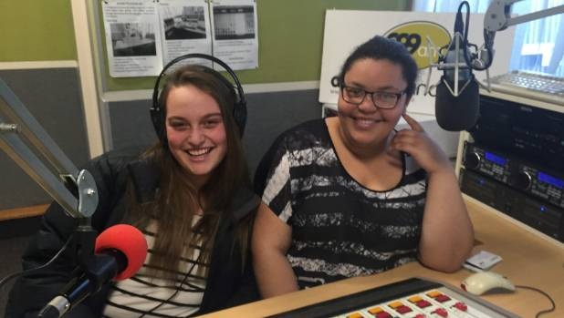 Madison Hunt, left, and Maquaela McKinnon-Peel, the new youth Collage radio show presenters, on Sunday nights on Access ...