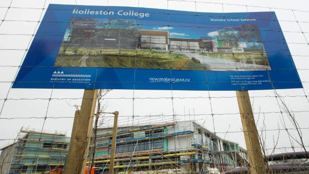 Rolleston College, opening after Christmas, will be the town's first high school.