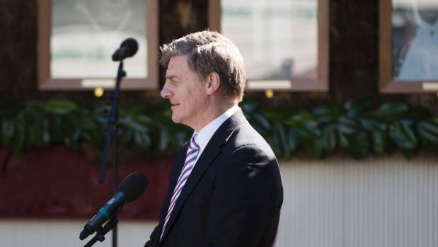 Deputy Prime Minister Bill English at Turangawaewae Marae.