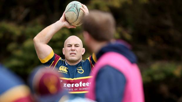 Southland Stags hooker Jason Rutledge at training at the Les George Oval at Invercargill's Centrepoint Park.