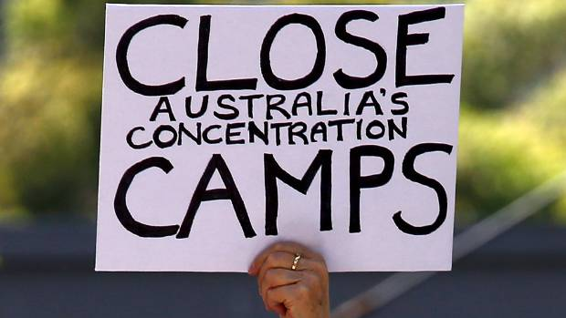 Australia's controversial offshore detention centres like Nauru have led to protests.