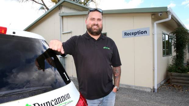 Hortus owner Aaron Jay at Duncannon, accommodation bought by the company earlier this year to house their seasonal workers.