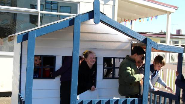 Students at Maungawhau Primary School in Mt Eden are using their creative talents to turn a playhouse in to a piece of ...