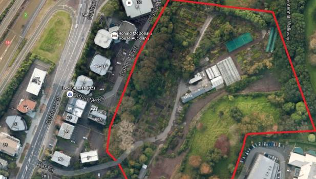 Google map of the two-hectare Kari Street Nursery Depot in the Auckland Domain that will become vacant in September. ...