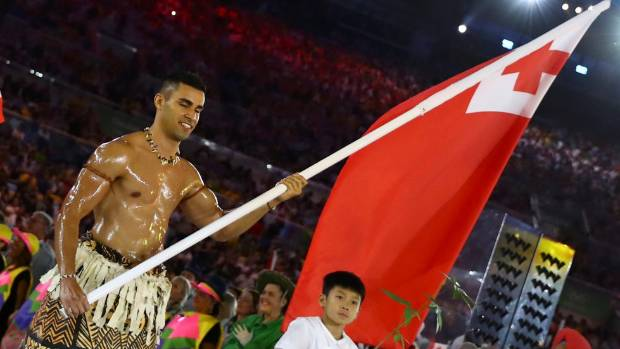 Tonga's bare-chested Rio Olympic flag-bearer punches Pyeonchang ticket