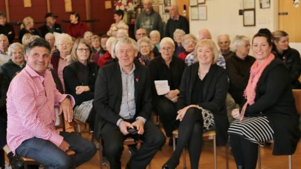 Central Otago councillor Stu Duncan, mayor Tony Lepper, Waitaki MP Jacqui Dean and Maniototo businesswoman Amie Pont ...