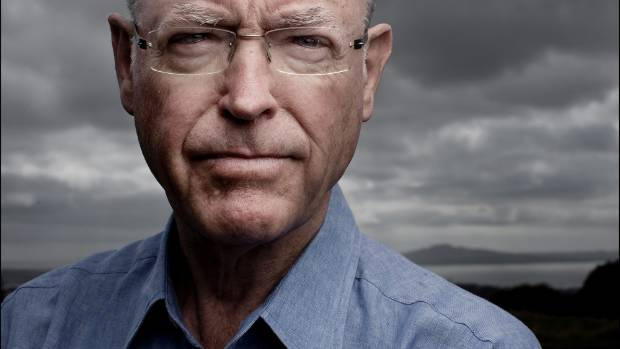 "Former leader of the National and ACT parties Don Brash was also at the press conference and said the ""enormous man"" was ..."
