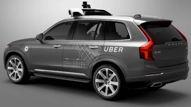 Uber's self-driving Volvo, being tested in Pittsburgh this month.