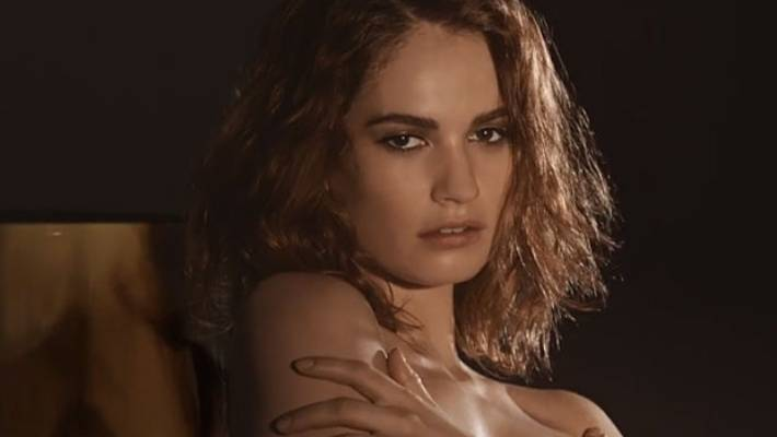 Lily James Image: Lily James Swaps Corsets For Perfume In Sexy Burberry Ad
