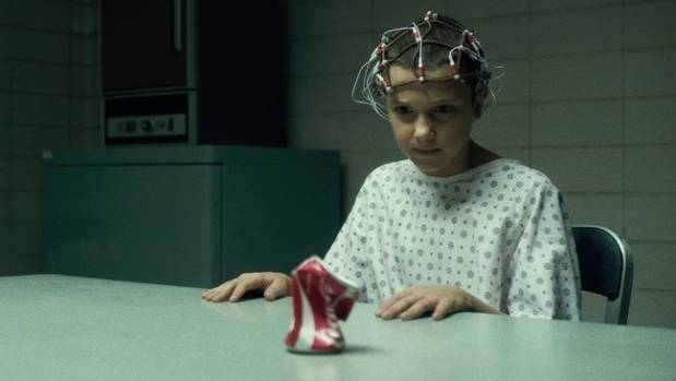 Millie Bobby Brown as the mysterious Eleven in Stranger Things.
