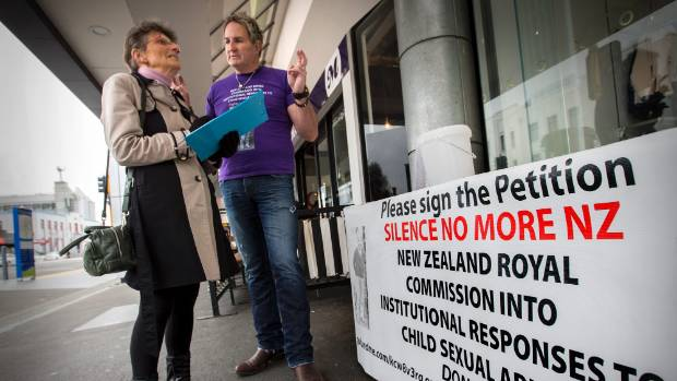 Campaigner Grant West talking with Rebecca Oaten, who signed the petition outside of the Plaza Shopping Centre on Wednesday.