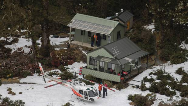 Lake McKenzie Hut and surrounding area on the Routeburn track near Queenstown where a woman was living for weeks after ...