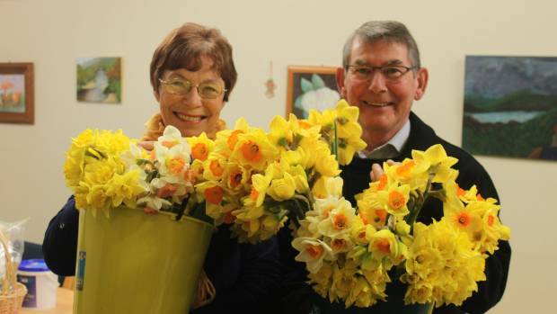 Sandra and Brian Hunter have been volunteers with Daffodil Day and many other fundraisers held in Matamata.