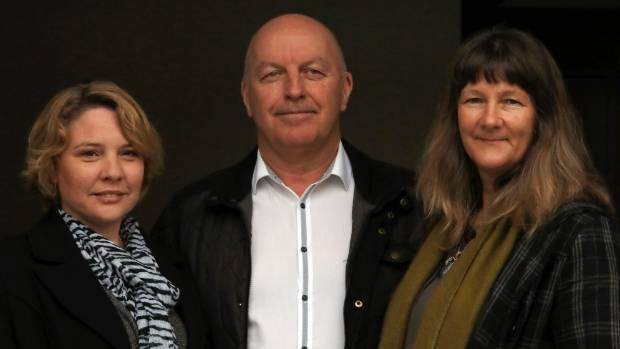 Joanne MacLennan, left, and Allan Halse of Culture Safe NZ with Business Forum on Mental Health co-ordinator Jacqui Irwin.