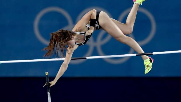 Up and over goes Eliza McCartney at Rio.
