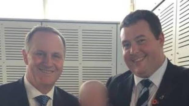 Prime Minister John Key with Peter Maguire.