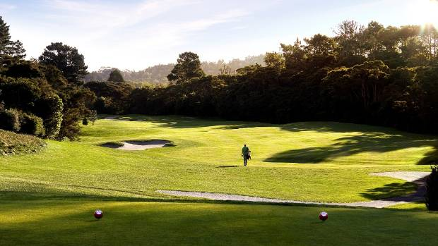 The long par-four 12th hole at Titirangi Golf Club.
