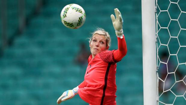 Erin Nayler and the Football Ferns were well beaten by France at last year's Olympics.