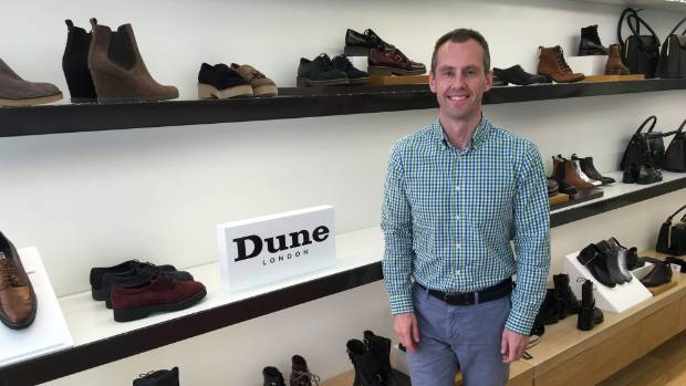 Ben Jobling of Dune London, which has more than 300 stores and concessions  worldwide.