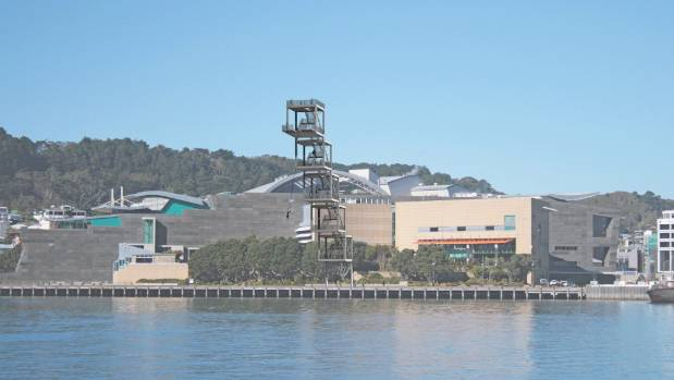 Design graphics for a 50-metre viewing platform at Wellington Waterfront.