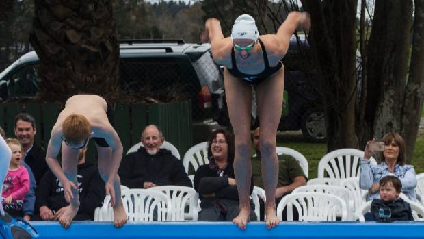 Camryn Caffell and Lauren Boyle dive in.