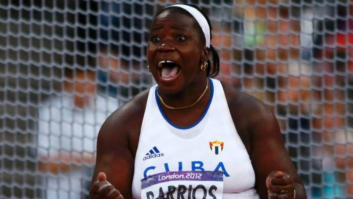 timeless design 720c7 88ddb Cuba s Yarelys Barrios who has been stripped of her Olympics silver medal.