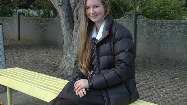 Charlotte Coulson was in the New Zealand Spelling Bee national final.