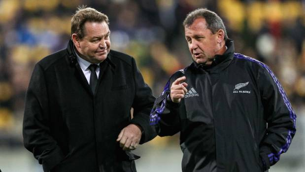 Could All Blacks Head Coach Steve Hansen (left) be succeeded by Assistant Coach Ian Foster?