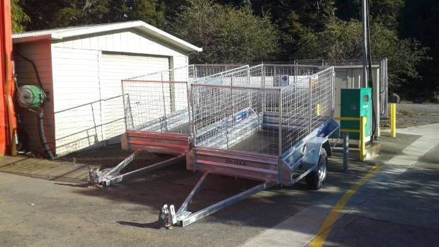 Newman's business hires out these trailers from service stations. The stolen one was rented from Masterton, and never ...