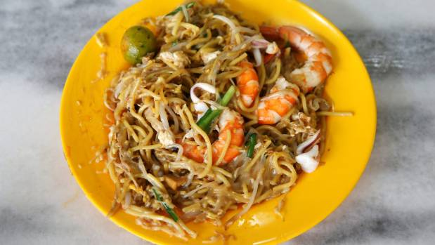 Hokkien Mee, or prawn noodles, are a hawker stall favourite.