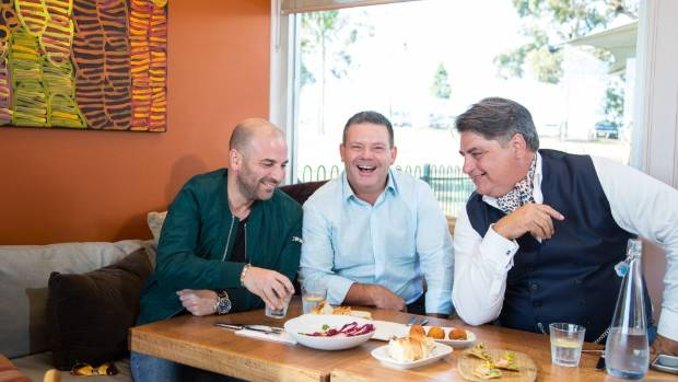 The MasterChef Australia judges, from left, George Calombaris, Matt Preston and Gary Mehigan, are back for another season.