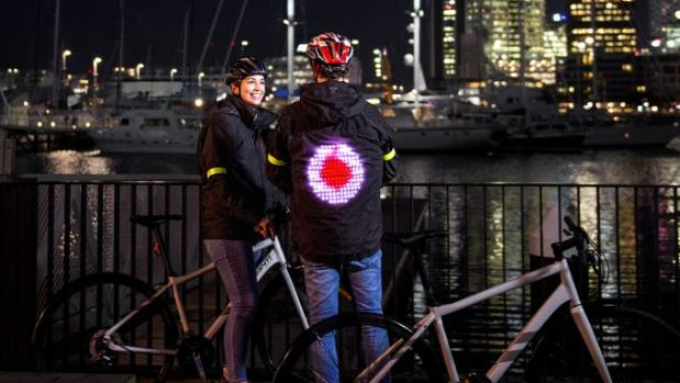 The smart jacket is a prototype and not yet on sale, but Vodafone says it is an example of what is possible when ...