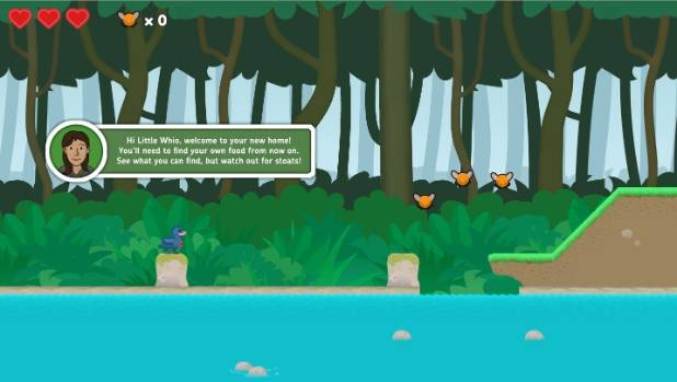 As the whio you can swim and jump as you look for your mate and your ducklings.