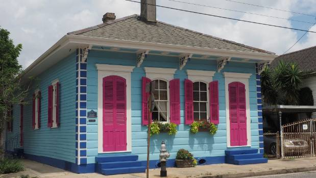 The houses of the Faubourg Marigny are reminiscent of Ponsonby, but in technicolour-plus.
