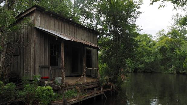 This authentically creepy swamp trapper's shack has appeared in a number of movies.