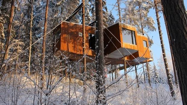 The Dragonfly is the largest of the treehouse options.