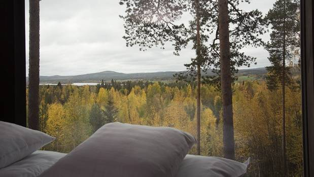 View from a Treehotel in Lulea, Sweden.
