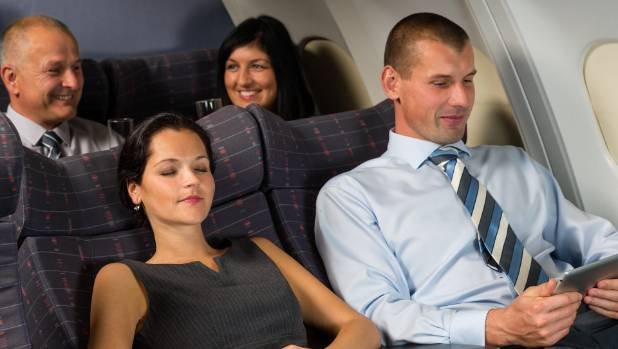 Selfish men who don't fly often are most likely to recline their seats and pass gas on flights.