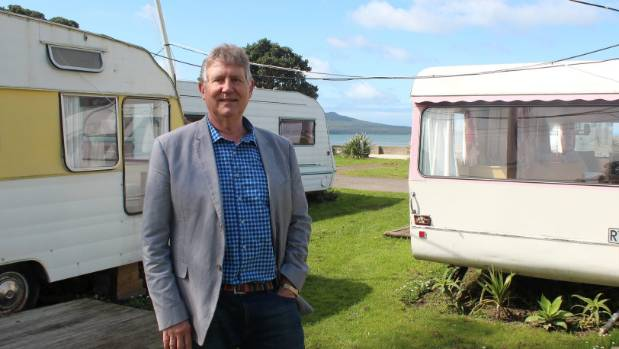 Devonport-Takapuna Local Board deputy chair Grant Gillon in the Takapuna Beach Holiday Park he attempted to unify into a ...