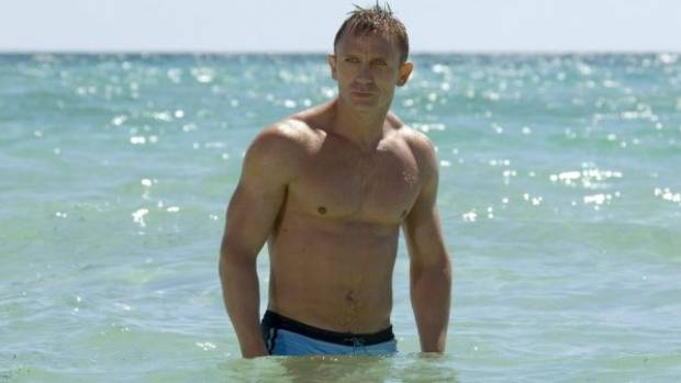 Daniel Craig shows off a largely hairless chest as James Bond in Casino Royale.