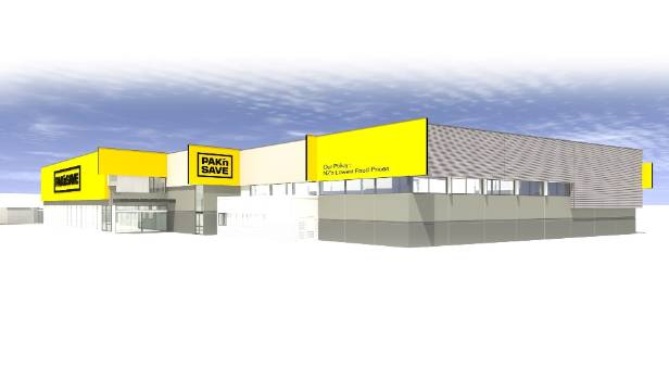 A rendering of the extension of Timaru's Pak 'n Save.