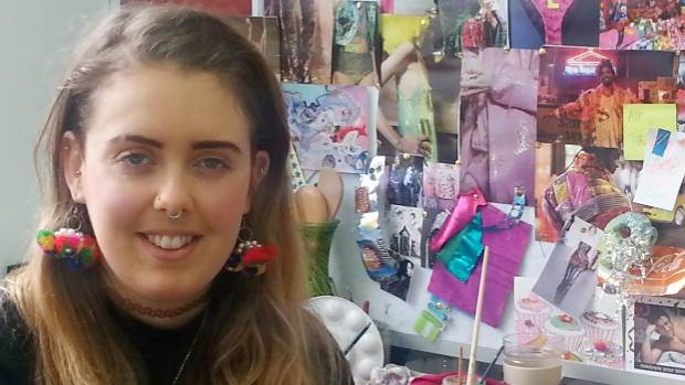 Massey University fashion student Kristen Meaclem likes to make clothes using discarded objects.
