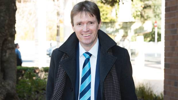 Former Conservative Party leader Colin Craig arrives at the High Court at Auckland.