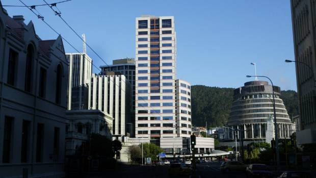 Bowen House, on the left of the Beehive, is one of the 80 buildings that will need to be rechecked by engineers.