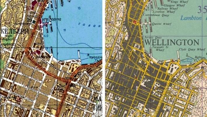 Map Wellington New Zealand.Revealed The Secret Cold War Maps Of New Zealand Made By Soviet