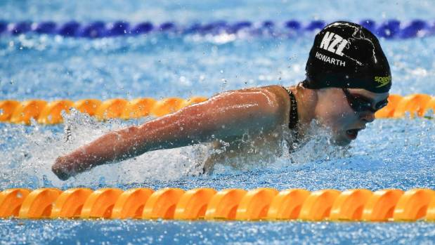 Nikita Horwath of New Zealand competes in the women's 50m butterfly.